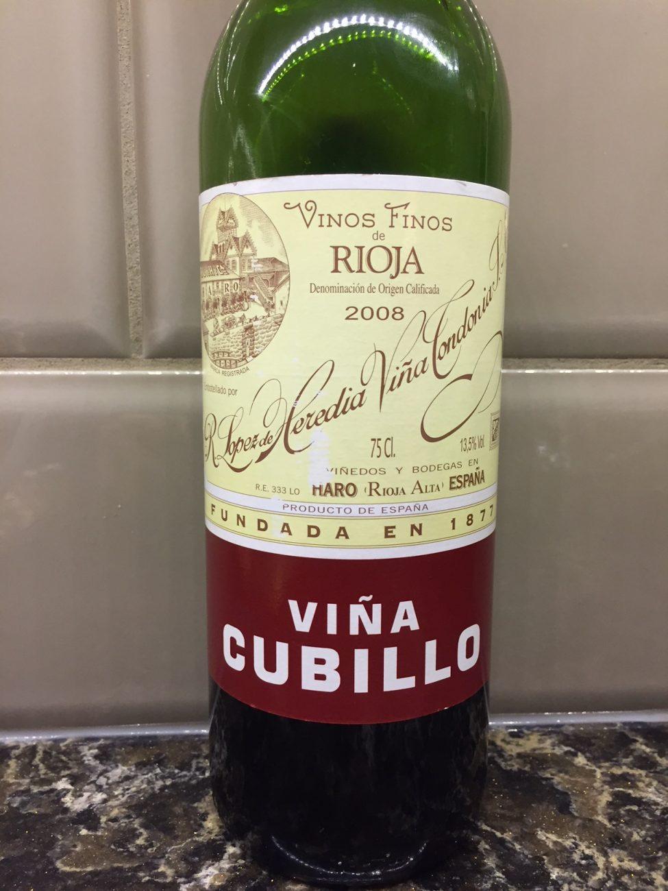 Vina Cubillo Crianza – Rioja – 2008 (Metrovino)
