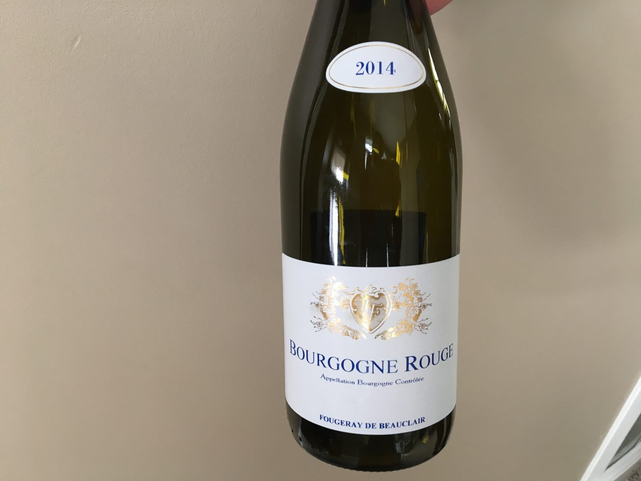 Fougeray de Beauclair – Bourgogne Rouge – 2014 (Zyn)